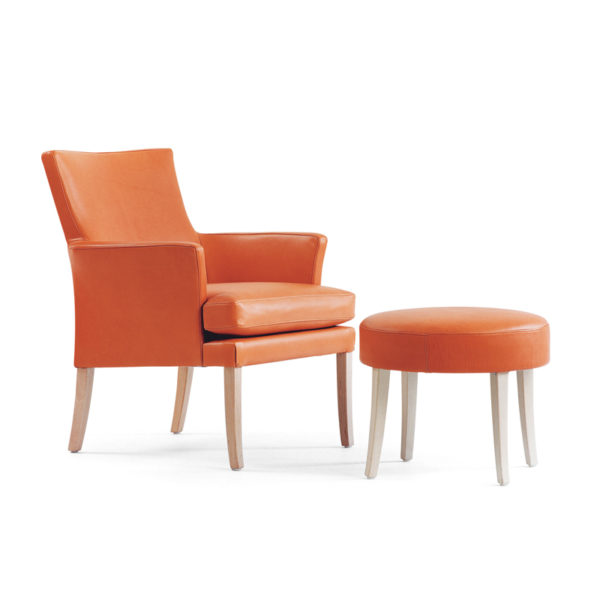 Celina orange fåtölj, design Marie Norell