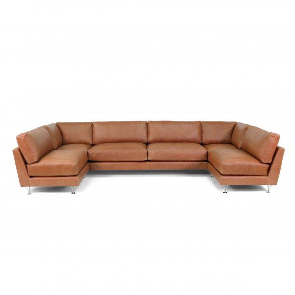 Deep U-soffa från Norell Möbel I Elmo Vintage-läder.