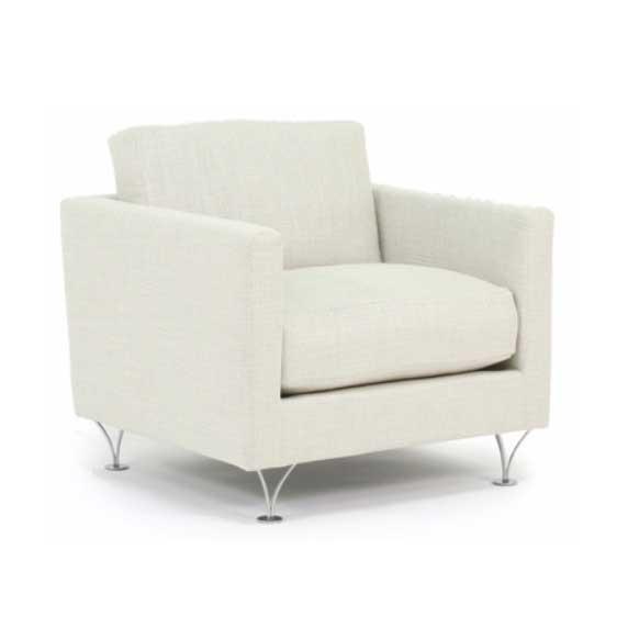 Deep och Soft vit fåtölj design Norell Möbel
