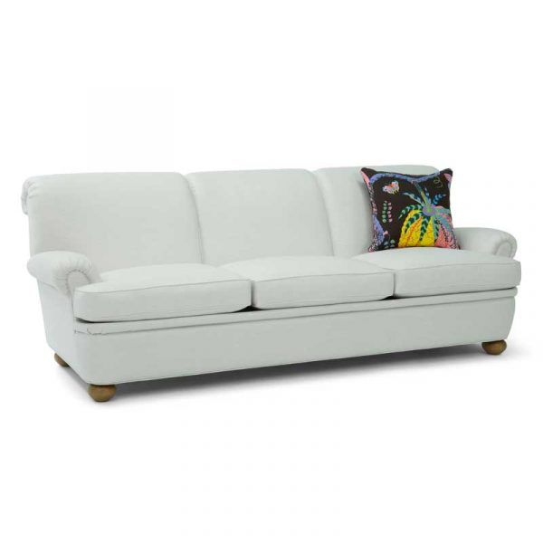 Vit 3,5 sits soffa modell Dover