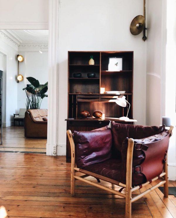 ilona fåtölj. Handgjord av Norell Möbel. Design Arne Norell. (foto: @_vintage_department.com_)