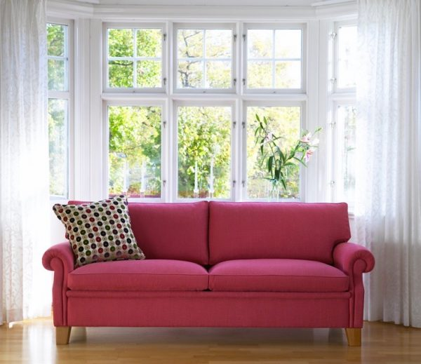 Plaza röd soffa, design Norell Möbel