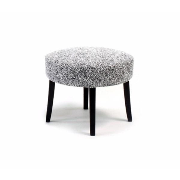 Celina grå pall med svarta ben, design Marie Norell