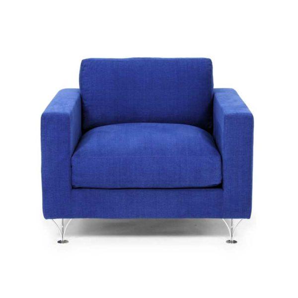 Deep och Soft blå fåtölj design Norell Möbel