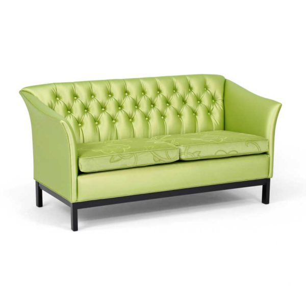 Diplomat grön soffa, design Norell Möbel