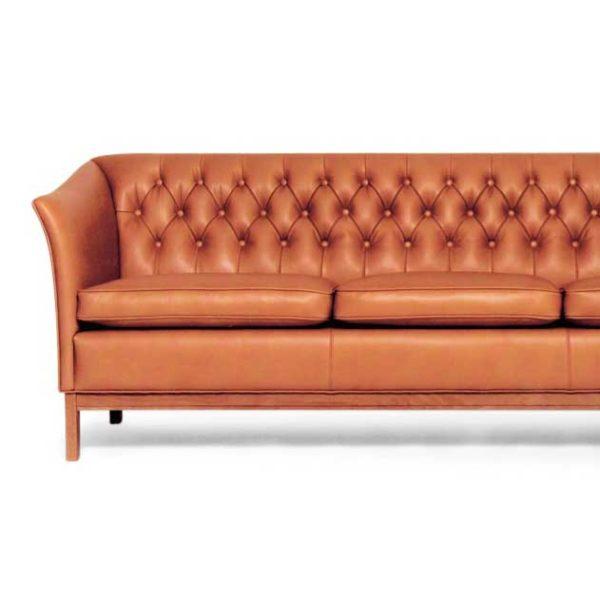Diplomat läder soffa, design Norell mMöbel