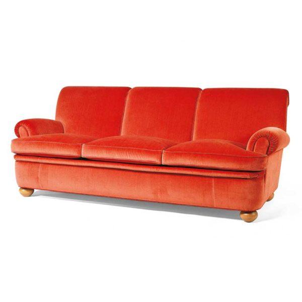 Dover röd soffa, design Norell Möbel