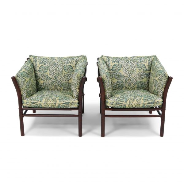 Ilona chair Arne Norell oriental fabric