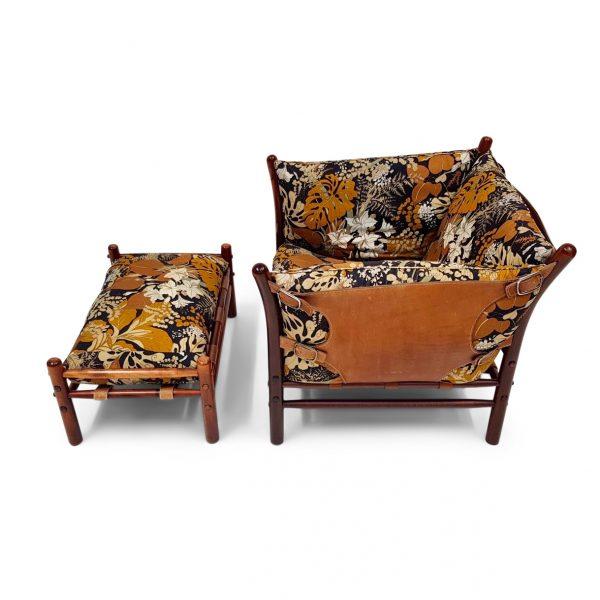 ilona fåtölj och fotpall från Norell möbel. Design Arne Norell