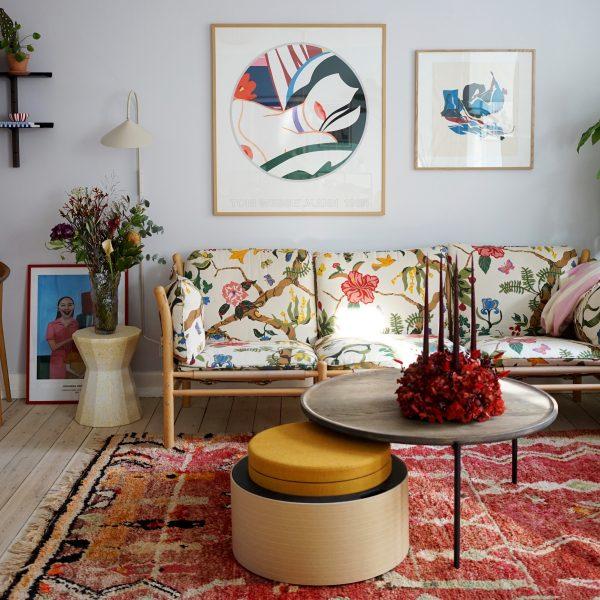 ilona blommigt tyg soffa Arne Norell möbler