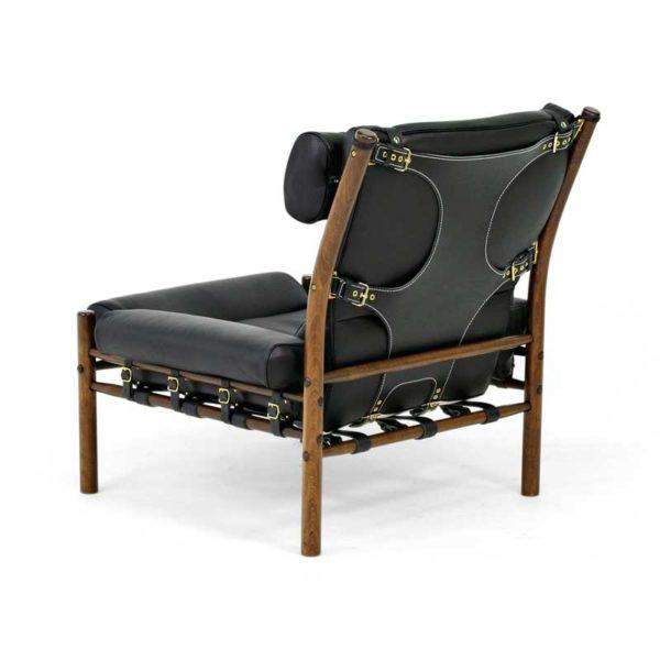 inca fåtölj svart läder design Arne Norell