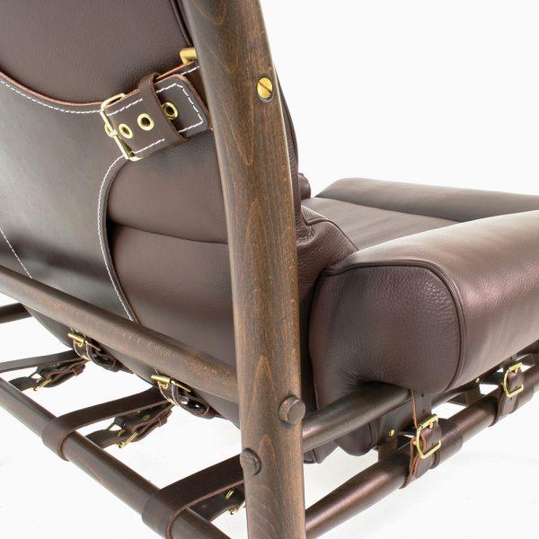 Inca mörkbrunt läder samt stödläder. Design Arne Norell - Norell Möbel