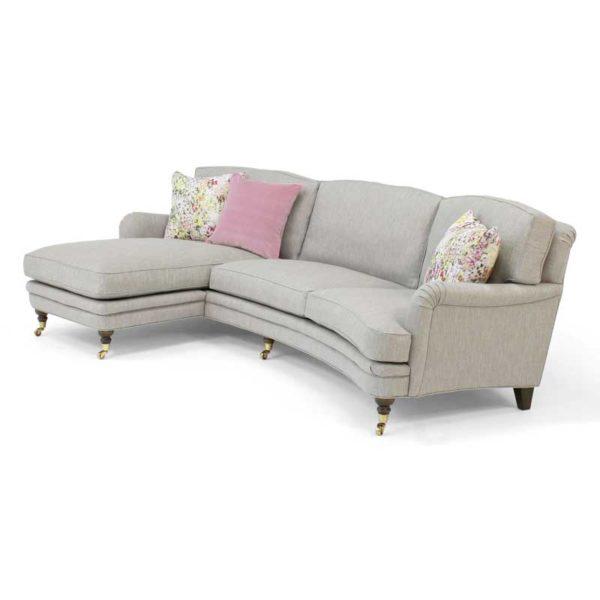 Romeo & Julia grå soffa med divan, design Norell Möbel