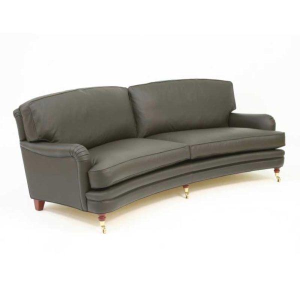 Romeo & Julia sväng Howard soffa i svart läder design Norell Möbel