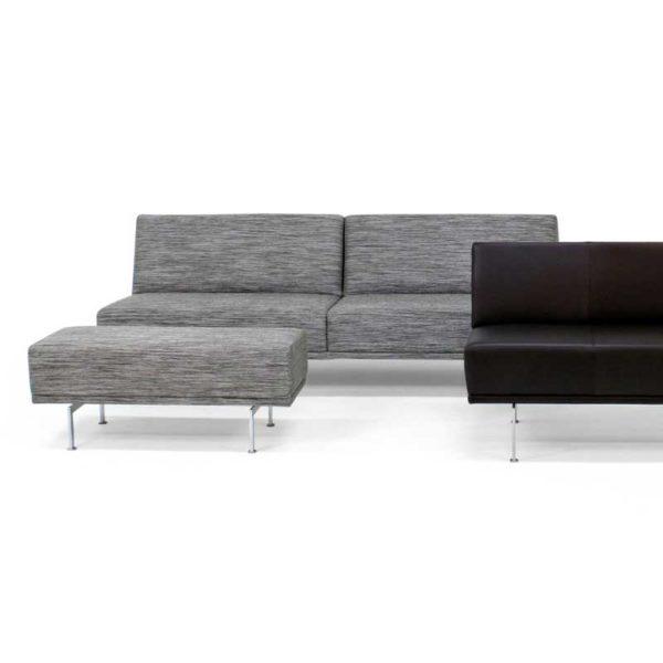 Look fåtölj och soffa med pall design Ulla Christiansson för Norell Möbel