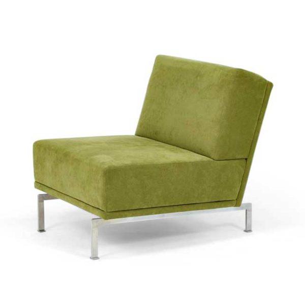 Look grön fåtölj design Ulla Christiansson för Norell Möbel