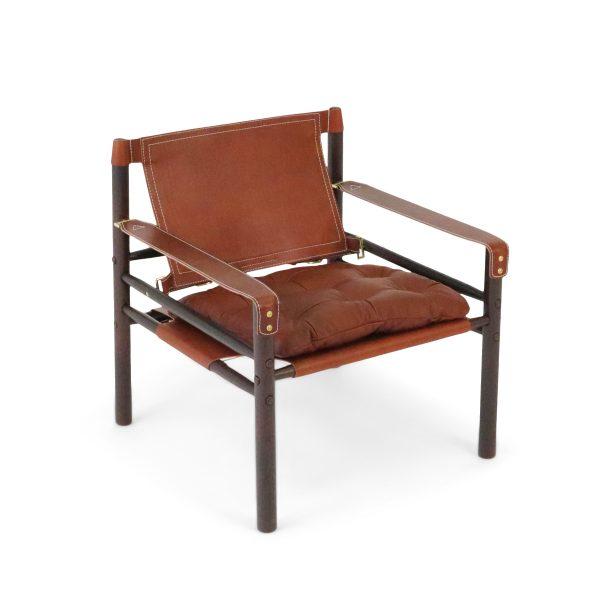 Sirocco från Norell Möbel i mellanblont läder från Tärnsjö. Design: Arne Norell 1964