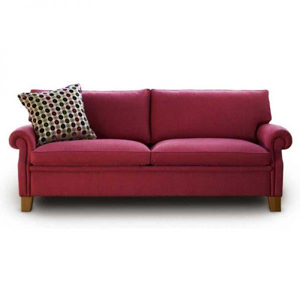 Plaza klassisk röd soffa Norell Möbel