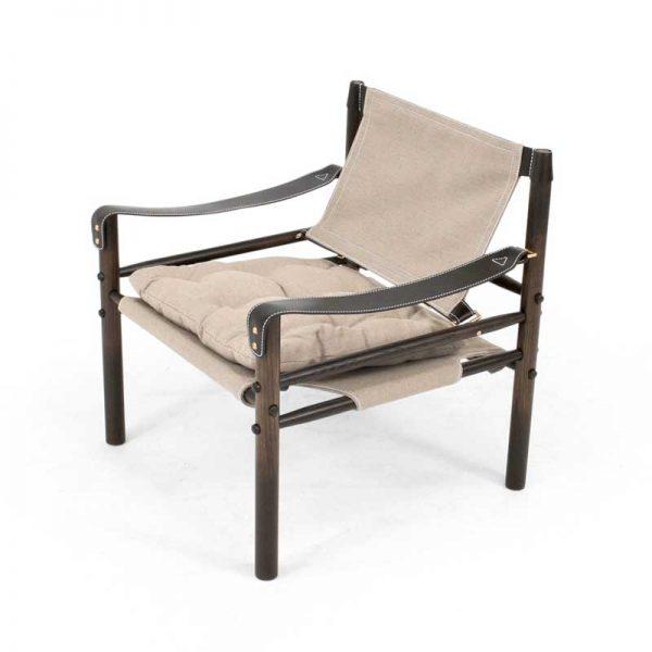 Sirocco beige canvas safari stol design Arne Norell