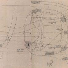 Arne Norells ritning på fåtöljen