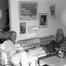 Arne Norell tillsammans med sin fru Britta Norell