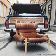 Inca vintage fåtölj, design Arne Norell (foto: @designboard)
