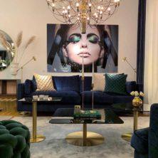 Soft och Deep blå soffa design Norell Möbel